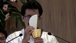 """Pemecahan Roti. """"Ya Tuhan saya tidak pantas…."""". Minggu Paskah ke-6 di Palembang."""