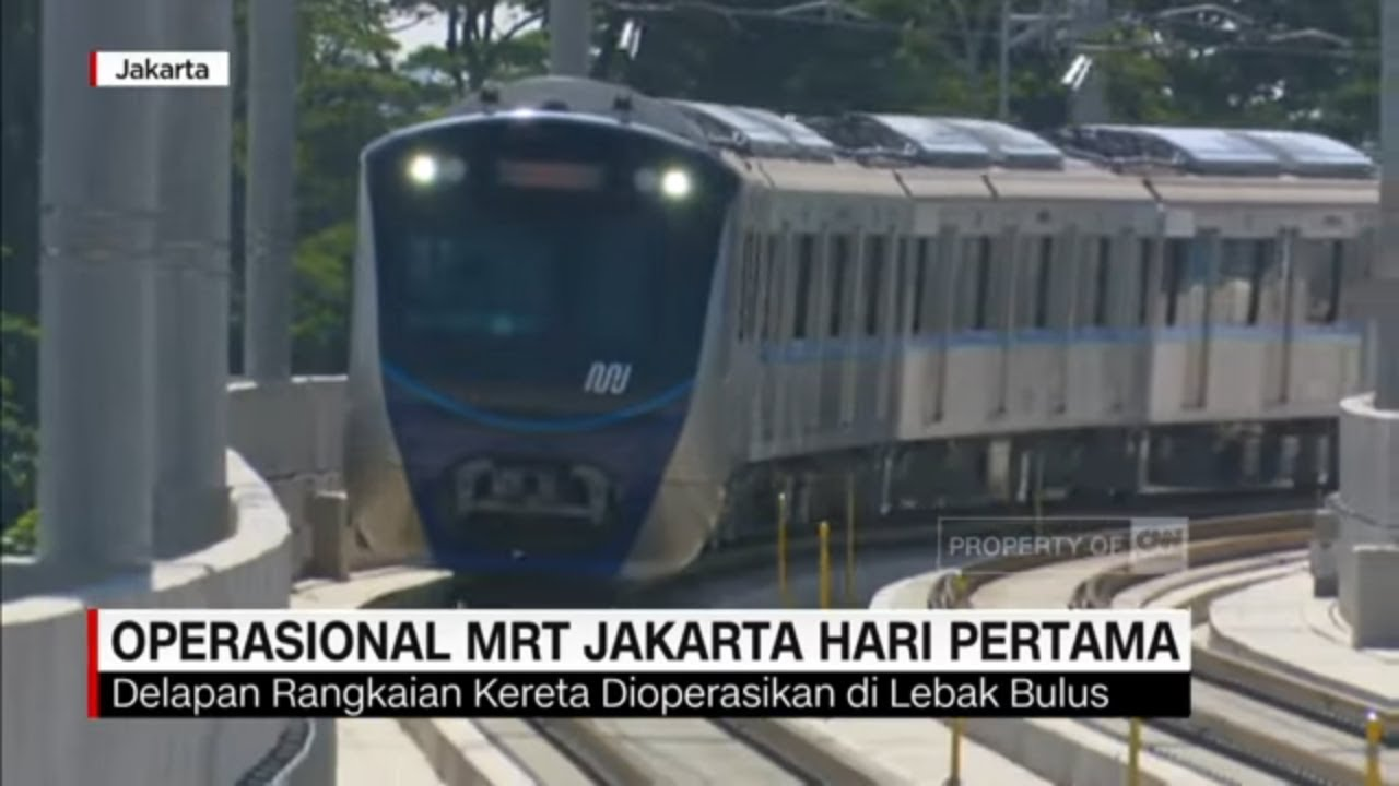 Operasional Mrt Jakarta Hari Pertama Youtube