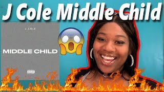 😱THE GOAT🔥 Mom reacts to J. Cole - Middle Child | Reaction