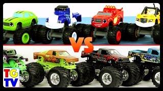 blaze and the monster machines vs monster trucks grave digger