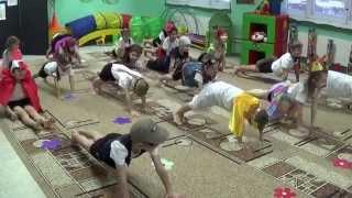 Урок физкультуры в детском саду ч.1