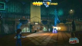 Haunted Mansion gameplay in Kinect Disneyland Adventures - Virtual tour on Xbox 360