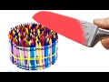 EXPERIMENT Glowing 600 degree KNIFE VS CRAYONS