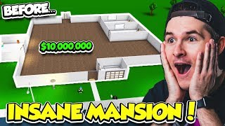 BUILDING A HUGE $10,000,000 MANSION IN BLOXBURG!! 'INSANEMD' (Roblox)