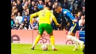 Hakim Ziyech UNBELIEVABLE MAGICAL SKILL TRICKS ( Chelsea 7 Norwich 0 ) FRONT ROW CROWD VIEW