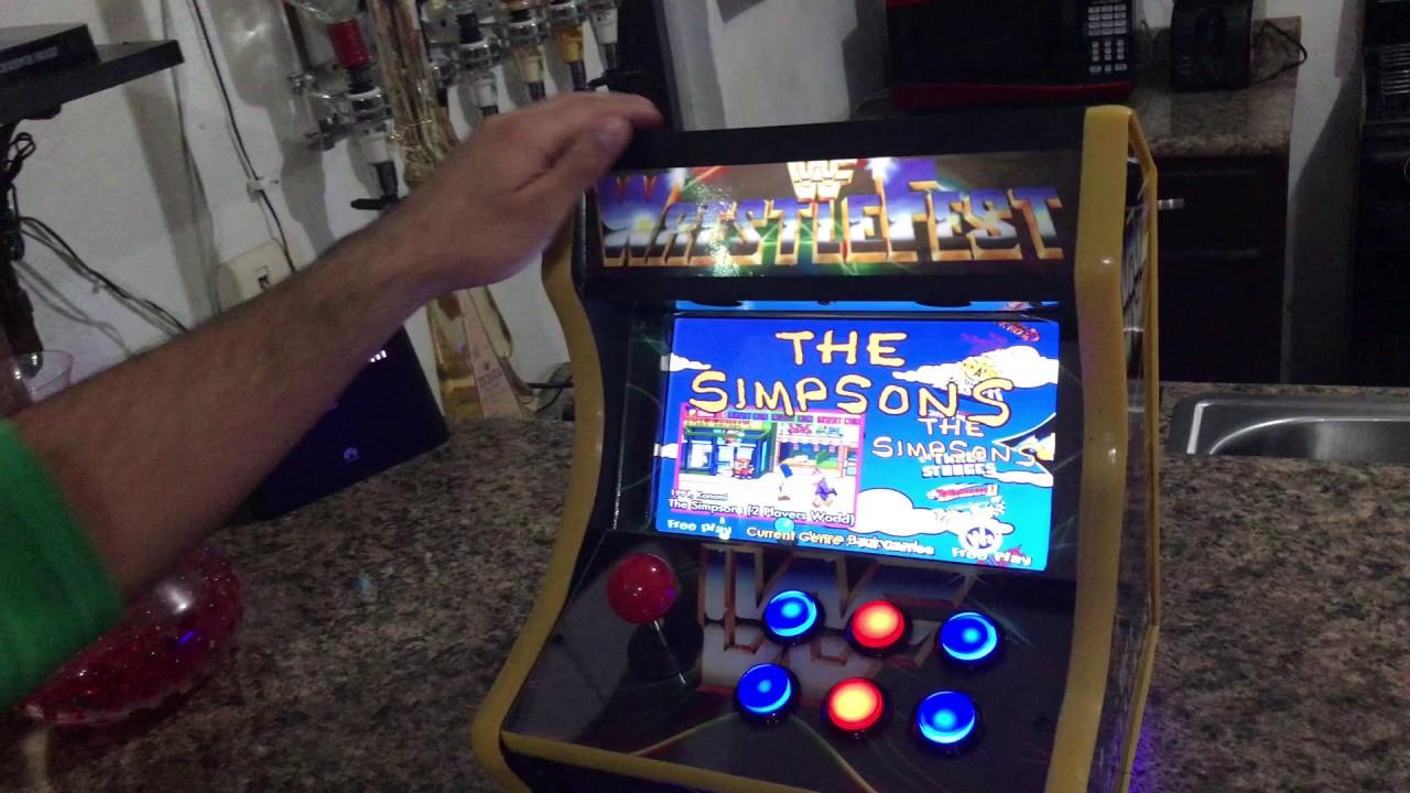 "10"" WWF WrestleFest Mini Arcade Machine The Simpson's ..."