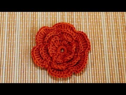 How to Crochet a Flower Part 2 - ถักดอกไม้โครเชต์ตอนที่ 2