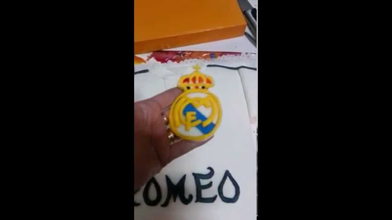 Tarta camiseta de Real Madrid - YouTube 0c333e3c70e