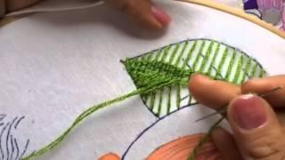 111 bordado fantasia hojas de la nia pera