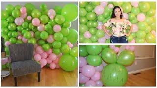 como hacer pared de globos  como hacer mural de globos sin base globos descontruidos baby shower