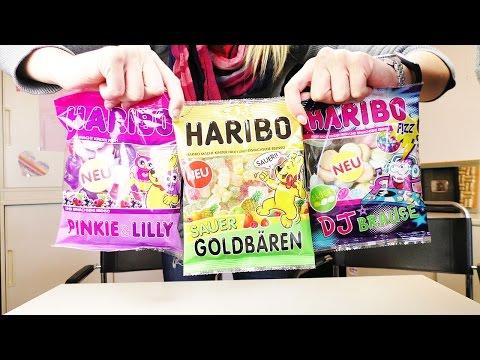 Snacktest: NEUES von Haribo | DJ Brause, Pinkie & Lilly & Goldbären sauer | Januar 2016