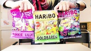 Snacktest: NEUES von Haribo   DJ Brause, Pinkie & Lilly & Goldbären sauer   Januar 2016