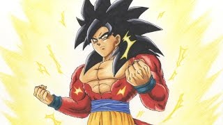 Drawing Goku SSJ4 - Super Saiyan 4