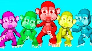 Five little monkeys (new version)   동요와 어린이 노래   어린이 교육   Olivia Kids Tube