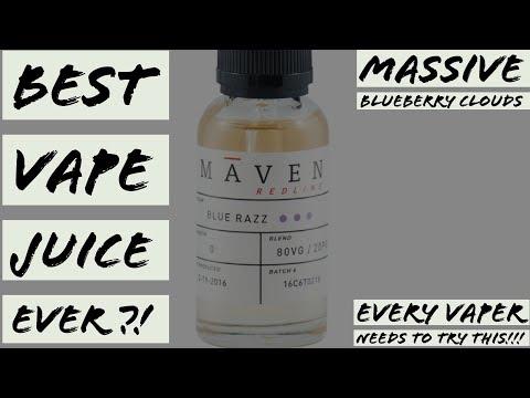 BEST VAPE JUICE EVER?! - Maven Redline - Blue Razz Full