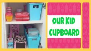 Our Kid Cupboard ::: Kitchen Organization