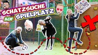 SCHATZSUCHE AUF SPIELPLATZ Challenge mit Kaan, Nina & Kathi! Spielzeuge suchen!Peinliche Erwachsene