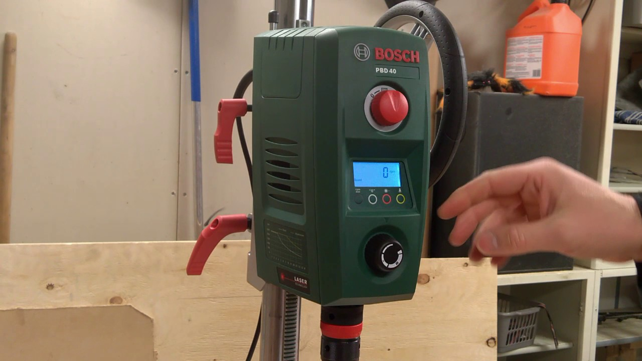 misc 2 unboxing the bosch pbd 40 bench drill youtube. Black Bedroom Furniture Sets. Home Design Ideas