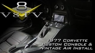 C3 Corvette Interior Upgrades Video Series Part 2 of 2 - Custom Console, Vintage Air V8TV