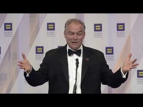 Senator Tim Kaine delivers the keynote address at the 2016 H