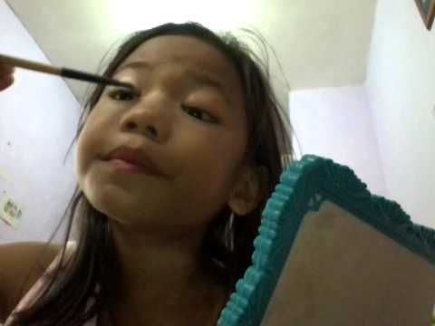 Makeup tutorial by my 7-year old sister