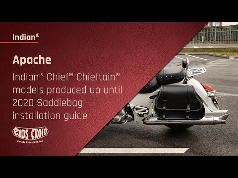 Indian Chief Dark Horse – Saddlebag installation guide – Ends Cuoio