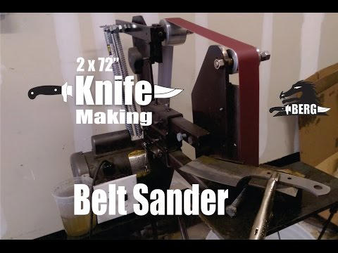 DIY 2x72 Knife Making Belt Sander how to make