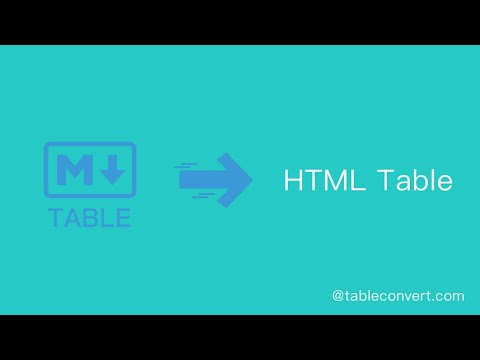 How To Convert Markdown Table To HTML Table Online?