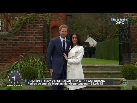 Príncipe Harry anuncia casamento com atriz americana | SBT Brasil (27/11/17)