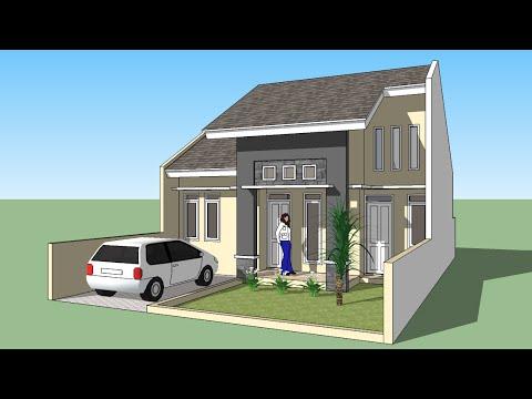 Sketchup membuat design rumah minimalis 1 lantai YouTube