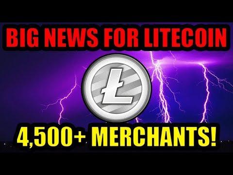 4,500+ Merchants Now Accept Litecoin Lightning Payments! [Bitcoin/Crypto News]