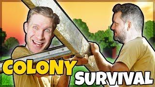 BYGGER EN KOLONI MED COMKEAN! - Colony Survival #1