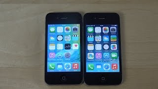 iPhone 4S iOS 9 Beta vs. iPhone 4 iOS 7 - Which Is Faster? (4K)