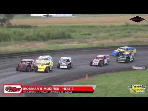 IronMan B-Modified Heats - Park Jefferson Speedway - 8/25/18
