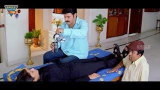 Arjun Movie || Sangeetha Act Like Unconscious Comedy Scene || Balakrishna,Laya || Eagle Hindi Movies