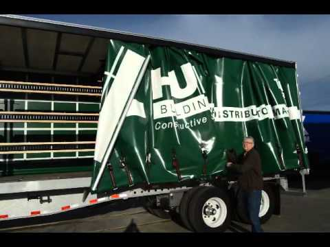 Training: Curtain side trailer: side curtain tensioning