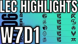 LEC Highlights ALL GAMES Week 7 Day 1 Summer 2020 League of Legends EULEC