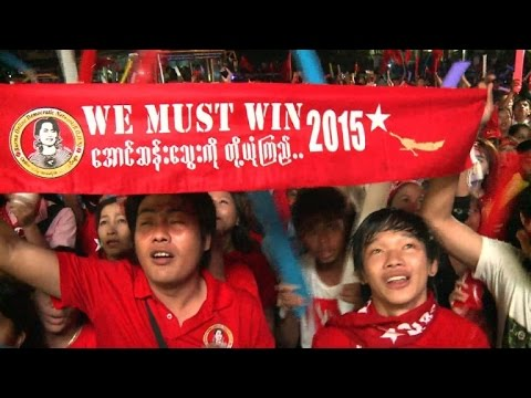 Myanmar's opposition supporters celebrate as win nears
