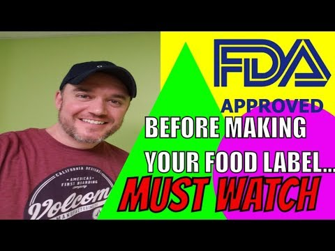 FDA nutritional label requirements and claims for New Fda Labeling