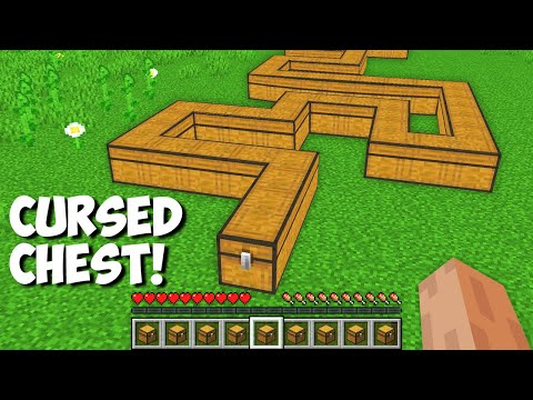 Never OPEN this CURSED CHEST in Minecraft ! What inside this STRANGEST CHEST ?