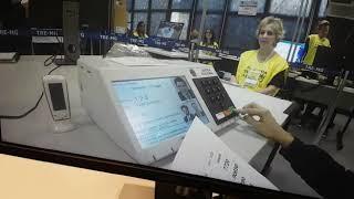 Vídeo gravado na auditoria de votação paralela em 07/10/18.