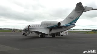 Cessna Citation X C750 N750GF - Powerful Take off - Gloucestershire Airport