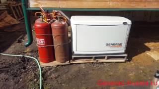 видео GENERAC 5914 (6269) с АВР - газовый генератор на  8 кВт - купить l
