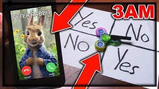 DO NOT PLAY CHARLIE CHARLIE FIDGET SPINNER WHEN TALKING TO PETER RABBIT AT 3AM!! *THIS IS WHY*