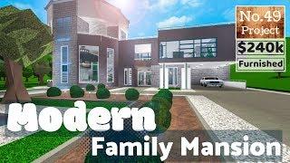 Bloxburg Build || Moderne Familienvilla | Roblox (Kein großer Plot)