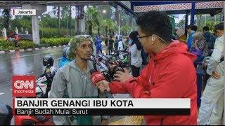 Cerita Pemotor Terjebak Banjir Jalanan Ibu Kota