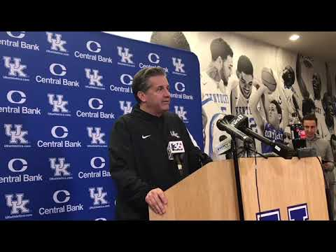Kentucky Coach John Calipari - Louisville Preview