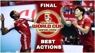 FINAL   Men's Volleyball World Cup 2019   Best Actions   (HD)