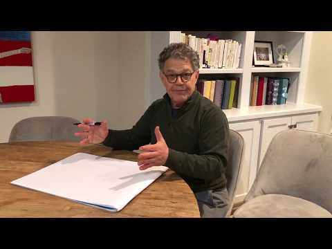 Al Franken Drawing a Map of the United States from Memory