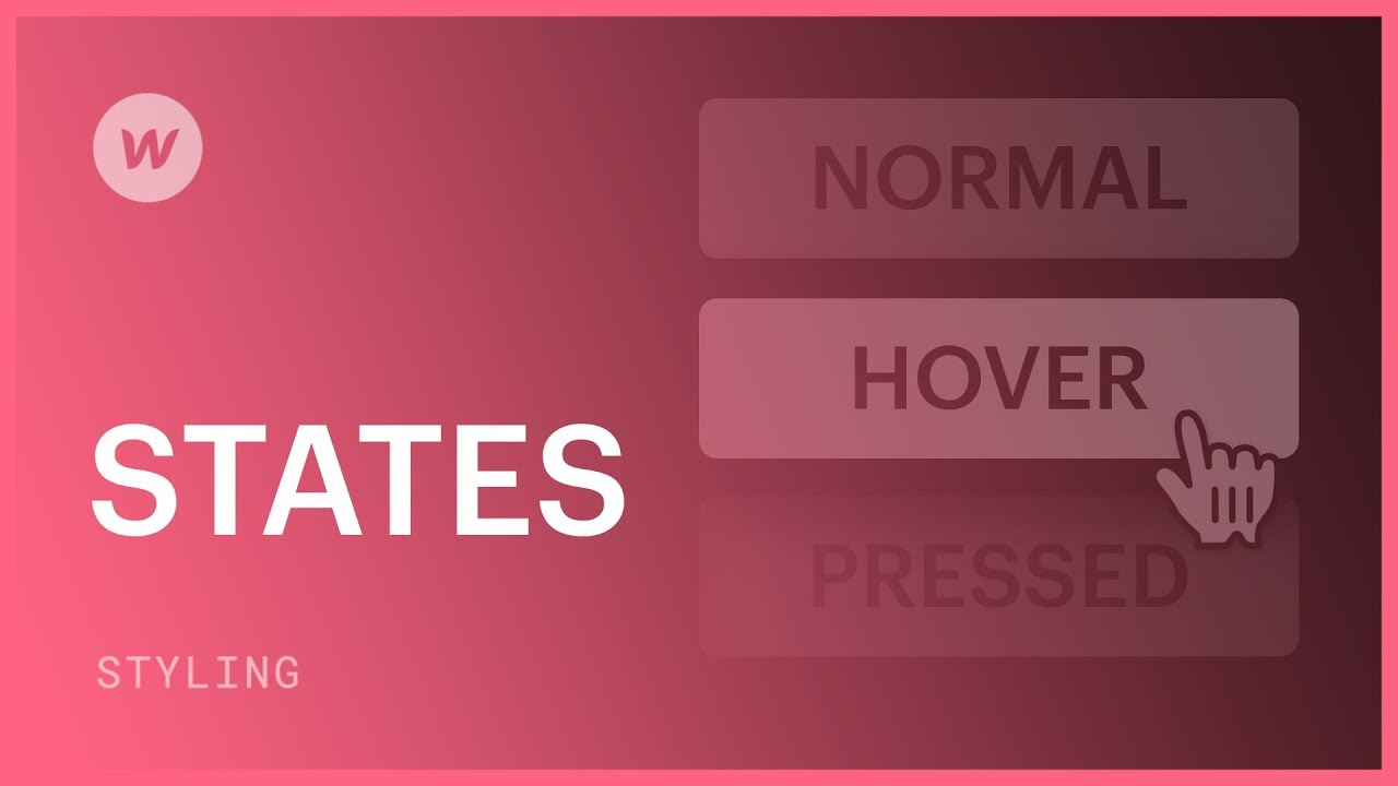 Hover, pressed, and focused states - Webflow CSS tutorial (using the Old UI)